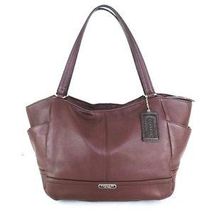Coach Large Park Oxblood Leather Hobo Shoulder Bag